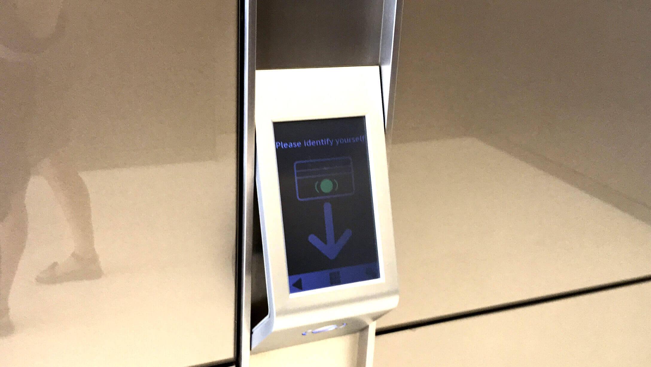 バンコク オフィス物件 AIA Sathorn Tower エレベータのセキュリティ