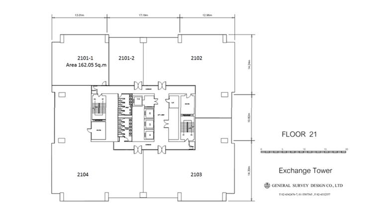 アソーク オフィス エクスチェンジタワー Exchange Towerの図面画像