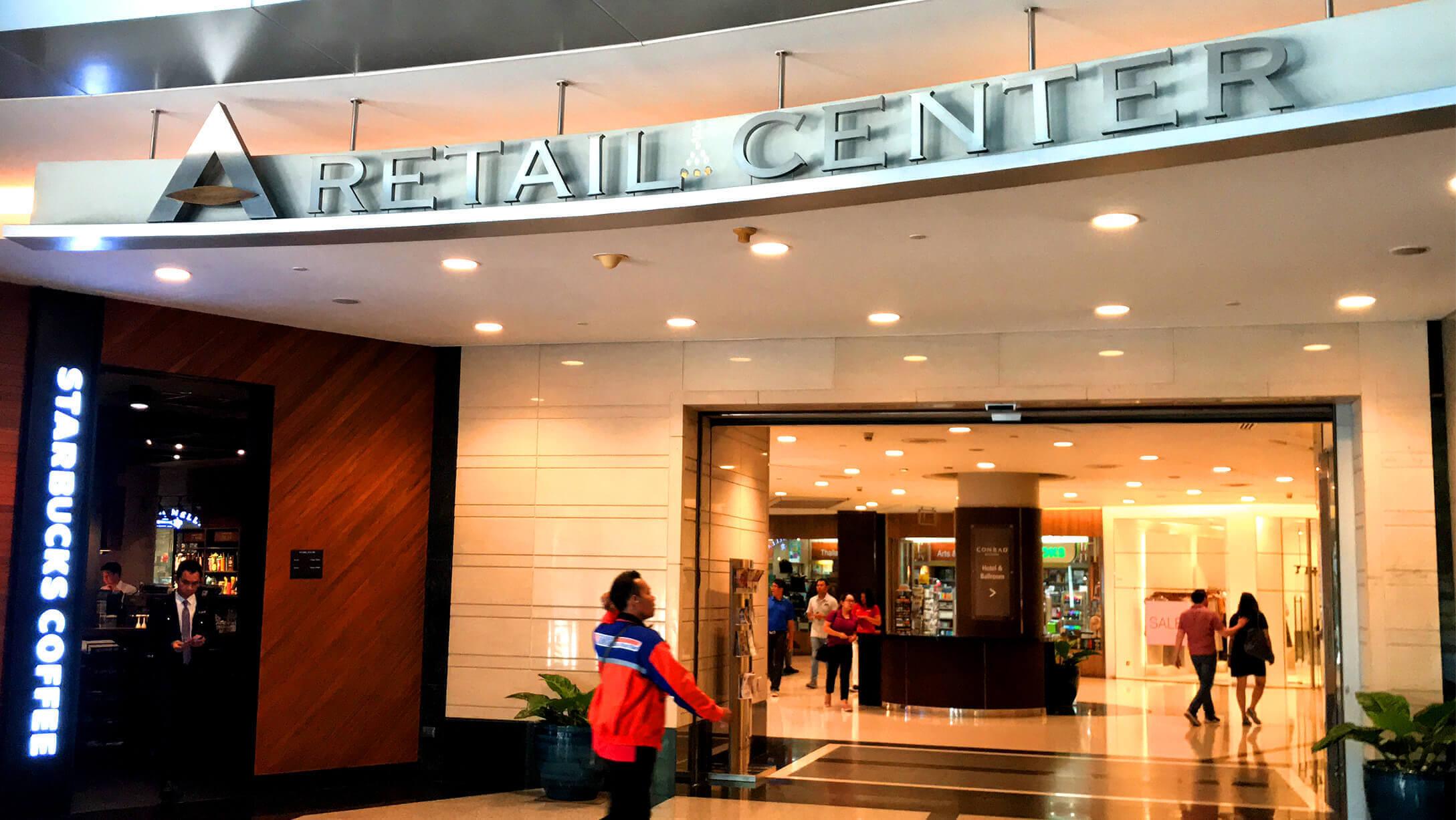 プルンチットオフィス物件M Thai Tower 商業施設の様子
