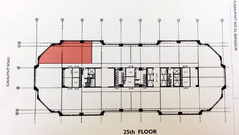 バンコク プロンポン オフィス物件 エンポリアム Emporium Towerの図面画像