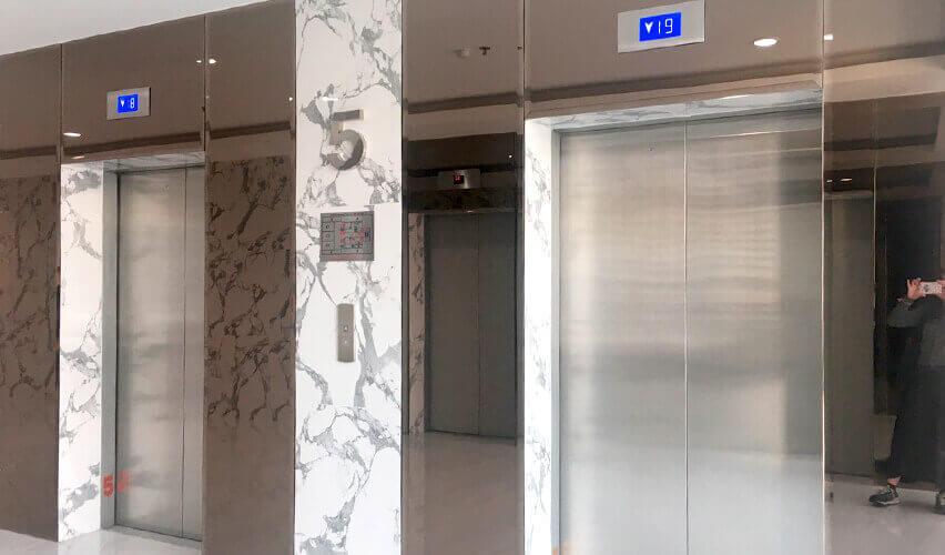 セントラルバンナー オフィス MD Towerエレベーターの様子
